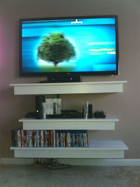 diy floating shelves  tv tv stand pinterest