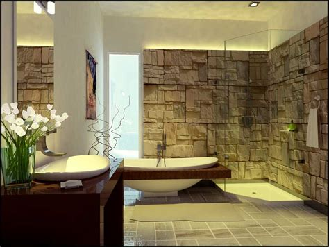 Unique And Exotic Stone Wall Bathroom By Arkiden124 | unique and exotic stone wall bathroom by arkiden124