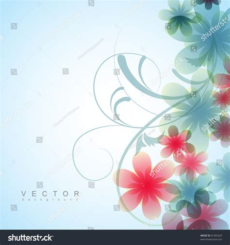 flower design images beautiful vector flower background design 81965203