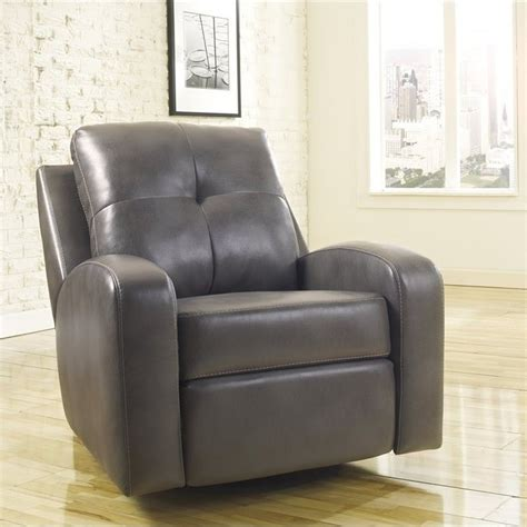 ashley furniture swivel recliner ashley furniture mannix durablend leather swivel glider