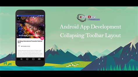 android studio toolbar tutorial android studio tutorial collapsing toolbar layout youtube