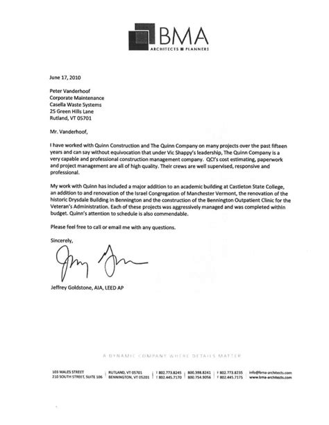 leed letter template contractor recommendation letter letter of recommendation