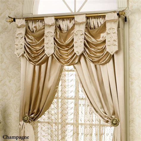 swag curtain valance paris swag valance window treatment