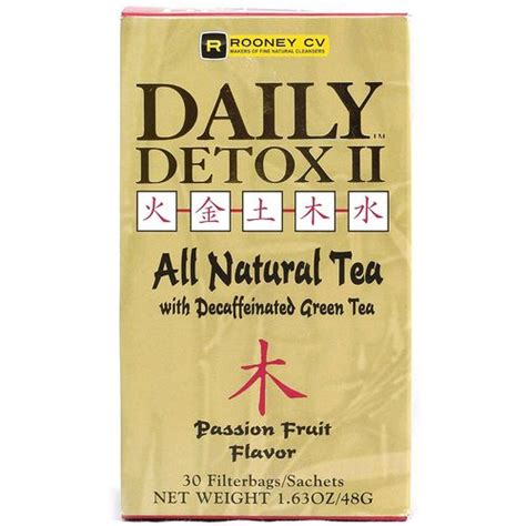 Daily Detox Tea For Weight Loss by Wellements Daily Detox Ii Herbal Fruit Tea 30