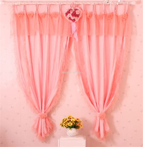 aliexpress com buy princess white pink curtain lace popular red white curtains buy cheap red white curtains