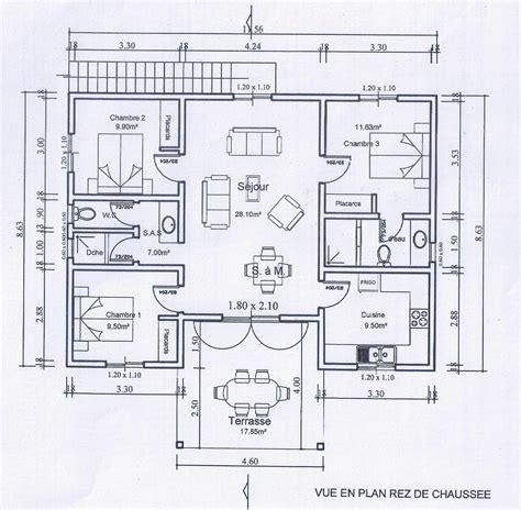 plan villa 6 villa t4 neuve 95 m 178 42000 187 architecture