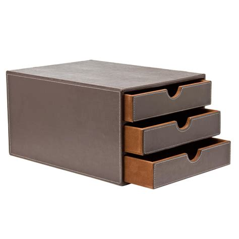 Leather Storage Drawers by Osco Leather Effect Drawers