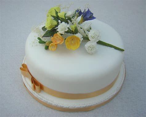 Wedding Cake One Tier by Hayling Island Cake Maker Julie S Creative Cakesjulie S