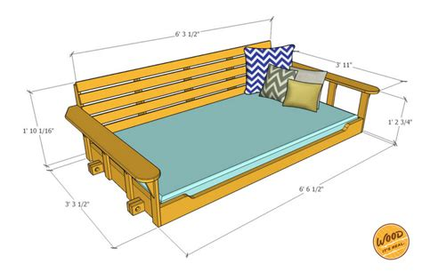 porch swing bed plans build a porch bed swing plans and video how to wood it
