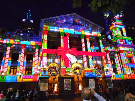 melbourne town hall christmas projection helen caldwell