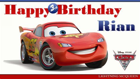 disney cars happy birthday banner printable 8 best images of cars 2 printable birthday cards disney