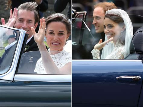 Royal Wedding Comparison by Pippa Middleton S Wedding Vs Kate S Royal Wedding