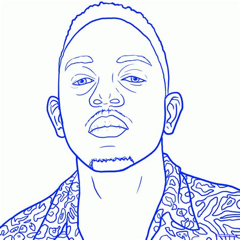 coloring book kendrick lamar draw kendrick lamar kendrick lamar step by step drawing