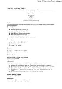 Volunteer Sample Resume sample resume volunteer position resume sample retail