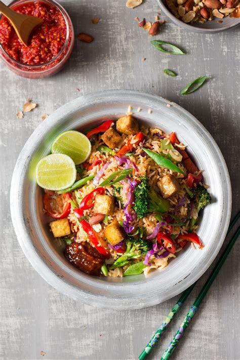 vegan nasi goreng  ginger tofu lazy cat kitchen