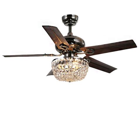 ceiling fans with crystals 3 light 5 blade 43 inch bronze chandelier