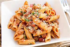 spicy penne pasta recipe dishmaps