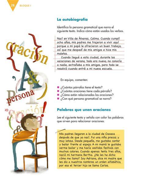 libro el libro de respuestas espa 241 ol sexto grado 2016 2017 online libros de texto online p 225 gina 28
