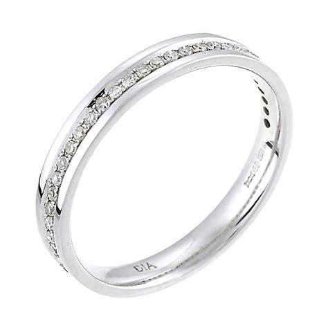 9ct white gold 15 point wedding ring h samuel