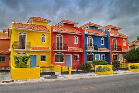 Online Home Plans by Colorful Houses In The Dominican Republic Photograph By