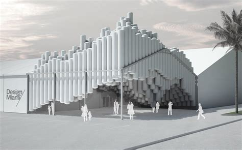 pavilion concept snarkitecture s drift pavilion welcomes visitors to design