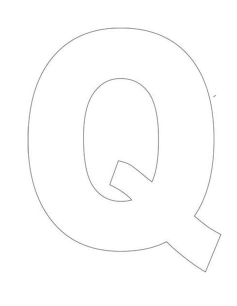 letter q template alphabet letter q template for crafts