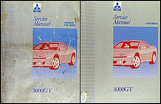 vehicle repair manual 1995 mitsubishi 3000gt on board diagnostic system 1992 1995 mitsubishi 3000gt original repair shop manual 2