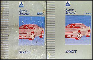 vehicle repair manual 1995 mitsubishi 3000gt on board diagnostic system 1992 1995 mitsubishi 3000gt original repair shop manual 2 vol set
