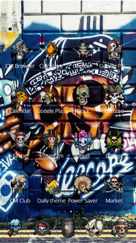 skull street graffiti theme  cm launcher