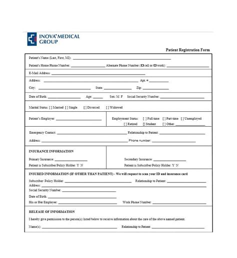 new patient registration form template 44 new patient registration form templates printable