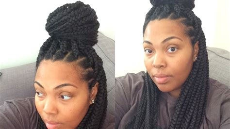 whats the best way to braid your hair down for crochet braids with marley hair color gurl