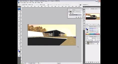 Adobe Photoshop Rendering Tutorial | how to render a sketchup model in photoshop photoshop