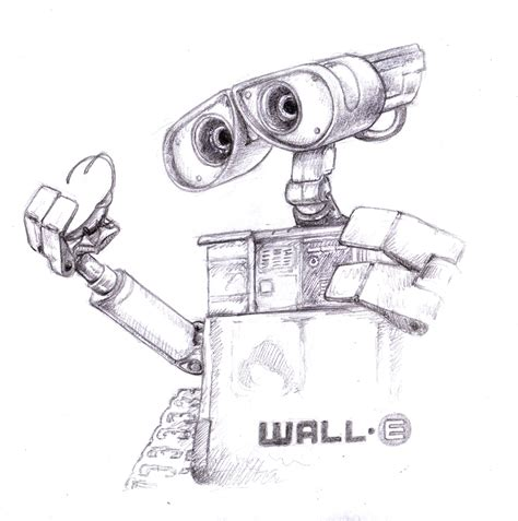 Wall E Sketches by Magellin Wall E Drawing