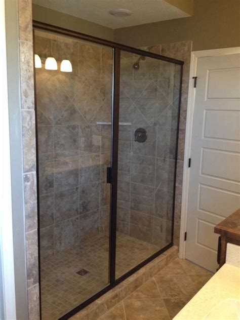 framed glass shower doors framed shower doors anchor ventana framed shower