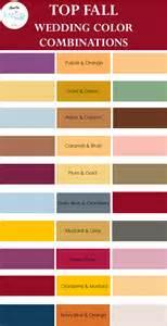 Best Colour Combinations Top Fall Wedding Color Combinations Knotsvilla