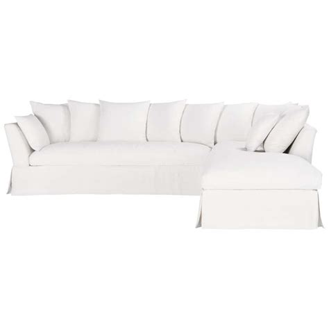white linen sofa uk 5 seater linen corner sofa in white hamilton maisons du