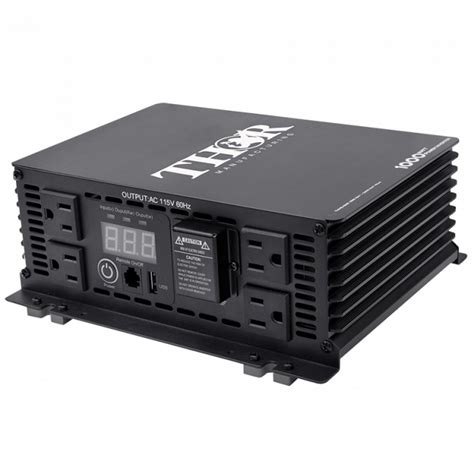 Power 1000 Watt thor 1 000 watt power inverter 12v to 120v