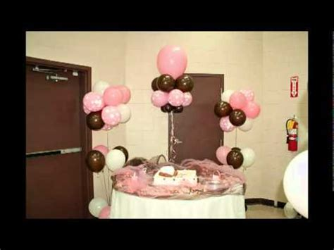 Pink And Brown Baby Shower Decorations by Pink Chocolate Brown And White Baby Bottle Balloon
