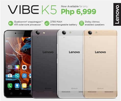 Lenovo Vibe K5 Hd lenovo vibe k5 with 5 inch hd display and snapdragon 415