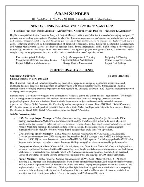 business analyst resume sles usa business analyst resume