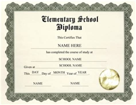 Elementary School Graduation Diploma Template Diploma Free Templates Clip Art Wording Geographics