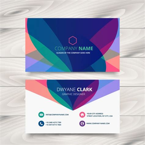 design id card modern modern colorful business card vector free download