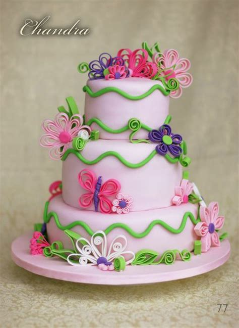 tutorial for quilling fondant quilled cake agus cumple pinterest