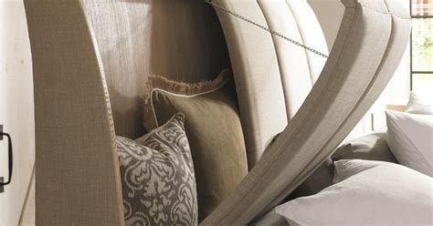 king size headboard with hidden storage schnadig caracole naturally casual quot his and hers quot king