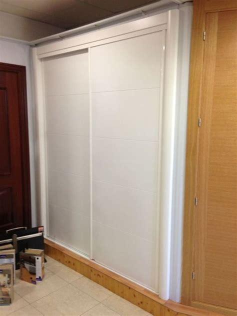 frente de armario corredera modelo  lacado blanco armarios de puertas correderas pinterest