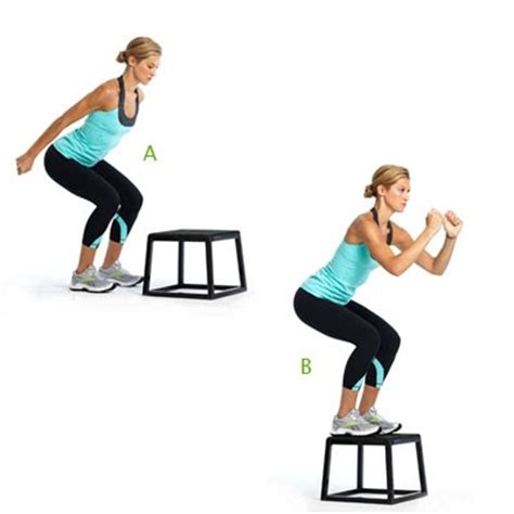 bench jumps exercise lil fit workout routines lower body plyo circuit