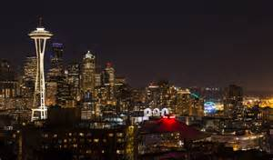 seattle nightlife map downtown seattle the kerry park again at