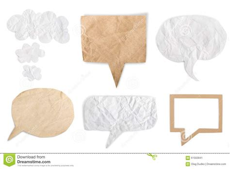 Paper Message Folding - paper stock photo image 61555841