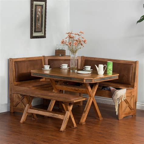 nook table with bench designs sedona 4 breakfast nook set with side