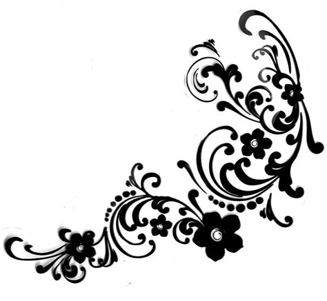 Swirl Black black and white swirl clip for corners pictures to pin on pinsdaddy